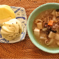 【クール便発送】【冷凍】《神戸の幸》 牛すじと旬菜の煮込み&巻き饅セット