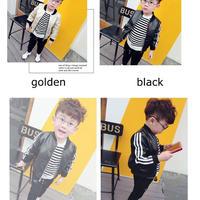 【 Kids】leather MA-1  jacket