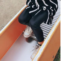 【 kids】leather-leggings
