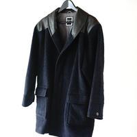 Christian Dior leather  alpaca wool coat