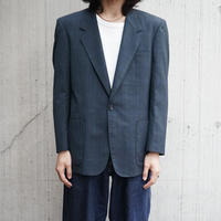 90s polyester blue check jacket