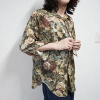 "vintage ""総柄""polyester shirt"