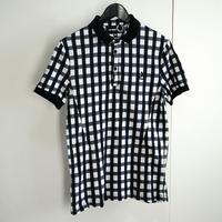 raf by raf simons check polo shirt