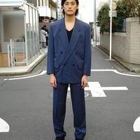 Christian Dior doubole set up suit blue
