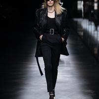 新品 2019aw saint laurent paris side line tuxedo trousers 42