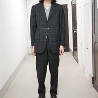 試着のみ 80s VAN check set up suit