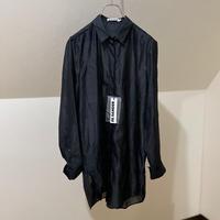 新品 2019ss jilsander silk long shirt black 40