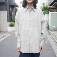 新品  KENZO over size check shirt