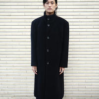 "LANVIN ""silk×angora"" chesterfield coat"