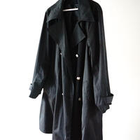 vintage black trench coat