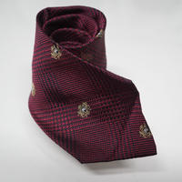 BURBERRY neck tie deep red