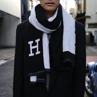 "H logo ""大判"" muffler"