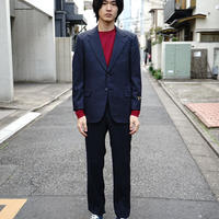 80-90s vintage dead stock stripe set up suit