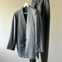 新品 issey miyake no collar set up suit