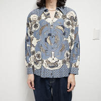 MARIO VALENTINO  big silhouette open-collared shirt