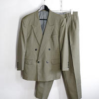 christian dior double set up suit green