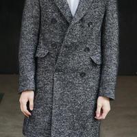 ZARA tweed chesterfield coat