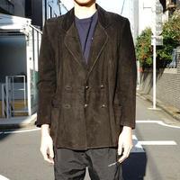 LOEWE leather double jacket