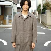 vintage boa tweed check coat