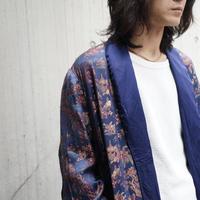 "silk""総柄"" robe coat"