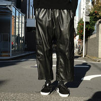 NHUDUONG fake leather eazy pants