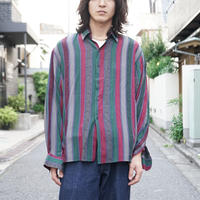 90s silk×rayon shirt