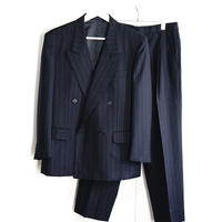 yves saint laurent double  set up suit stripe
