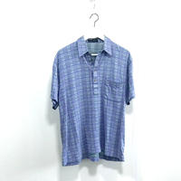 yves saint laurent over size check shirt