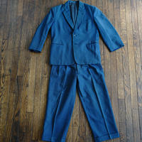 vintage set up suit blue