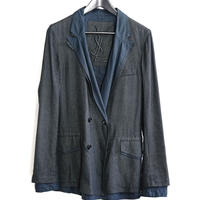 未使用  yves saint laurent rive gauche silk  layered jacket