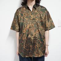 """試着のみ 80s vintage """"総柄""""silk shirt"""