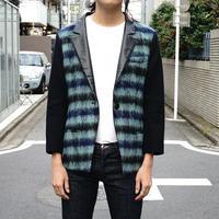 Balenciaga mohair leather jacket