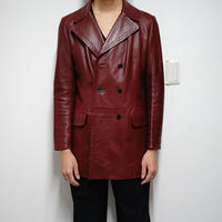 LOEWE leather harf coat