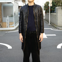 Yves Saint Laurent rive gauche  fake leather coat