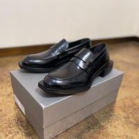 新品 alexander mcqueen 2020aw square wood heel shose 42.5