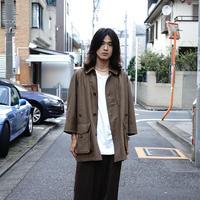 Aquascutum wool×leather coat
