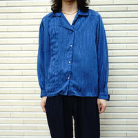 Made in Flance  over size silk shirt jacket
