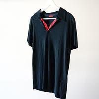 prada open collar polo shirt