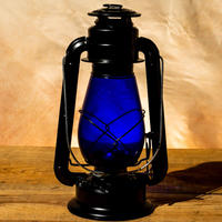 W.T.Kirkman Lanterns No. 1 『Little Champ』Black  BLUE Globe