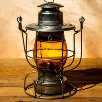 W.T.Kirkman Lanterns No.100 Watchman Railroad Lantern Amber Grove