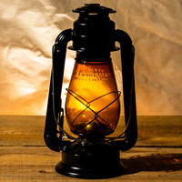 W.T.Kirkman Lanterns No. 1 『Little Champ』Black Amber Globe