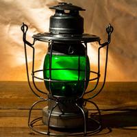 W.T.Kirkman Lanterns No.100 Watchman Railroad Lantern Green Grove