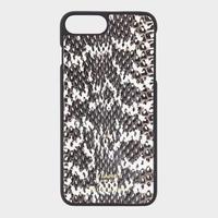 VIANEL NEW YORK  -  iPhone SE(第2世代)/8/7 CASE - BLACK WITH WHITE(OLIVIA PALERMO)