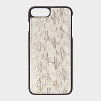 VIANEL NEW YORK iPhone 8Plus/7Plus Case - SNAKE SILVER WITH WHITE AND BLACK (OLIVIA PALERMO)