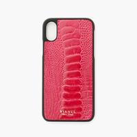 VIANEL NEW YORK iPhone Xs/X Case - OSTRICH HOT PINK