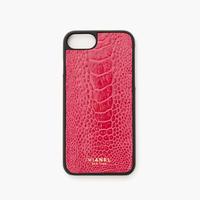 VIANEL NEW YORK - iPhone 8/7 Case - Ostrich Hot Pink