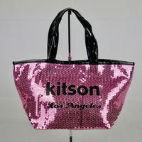 KITSON ミニ スパンコール トートバッグ B146