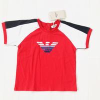 ARMANI baby アルマーニベイビー 半袖Tシャツ ロゴ   レッド