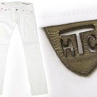 エイチティーシー HTC アパレル ボトムス 特別送料無料 VIXE 0903 01 ホワイト フロント3ボタン カラーパンツ