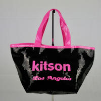 KITSON ミニ スパンコール トートバッグ B145